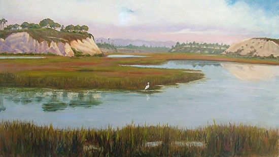 August Morning on the Back Bay - Oil