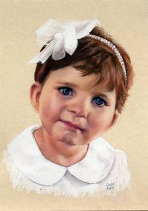 Abbey Grace portrait by Candace Maley Pastel ~ 7 x 5