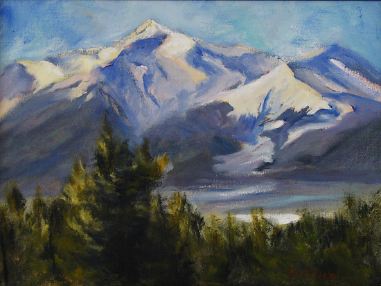 Mount Princeton by Dee Fabian - Oil