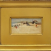 """Beach at Dhuneskodi"" by Debra Joyce Dawson Oil ~ 2-1/2"" x 5"""