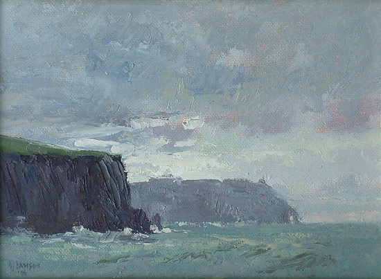 """Cliffs of Moher"" by Debra Joyce Dawson Oil ~ 6"" x 8"""