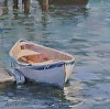 Dinghy at Dock by Karen Blackwood Oil ~ 6 x -