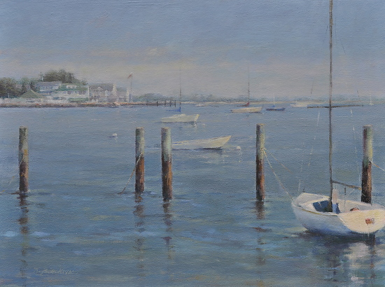 "View From West Wharf 2 by Karen Blackwood Oil ~ 12"" x 16"""