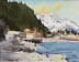 "Along the harbor Seaward Alaska by Caleb Stone Watercolor ~ 10"" x 8"""