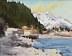 "Along the harbor Seaward Alaska by Caleb Stone Watercolor ~ 10"" x 8"""