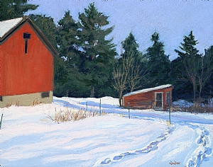 "Blackwell's Barn by Constance A. Dodge Pastel ~ 15.5"" x 19.5"""