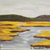 "Stroudwater Marsh, Portland Maine Painting, ""Marsh Magic 2"", Oil on Panel"
