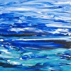 Maine Painting Essay on The Sea 18 Acrylic on Panel Abstract Seascape