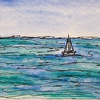 "Original Maine Coast Painting ""Sailing"" ACEO 271"