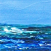 "Seascape Painting, Essay on the Sea 25,  4"" x 4"" x1"", acrylic on panel"