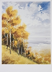 End of Autumn by Michael & Stephen Mccullough Watercolor ~ 24 x 18