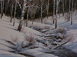 Winter's Majesty by Michael & Stephen Mccullough Watercolor ~ 16 x 22