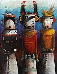 Canyon Land Dancers by Michael & Stephen Mccullough Acrylic ~ 33 x 23