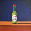 """Green Sauce"", 12"" x 12"", oil, by MARK SLUSSER."