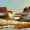 """""""Red Rock Canyon"""", 11"""" x 14"""", oil, by STOCK SCHLUETER."""