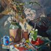 """Spring in My Studio, 32"" x 44"", oil, by ANASTASIA DUKHANINA."