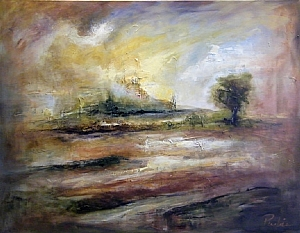 Memory of a Place by Rebecca Pashia Oil ~ 38 x 48