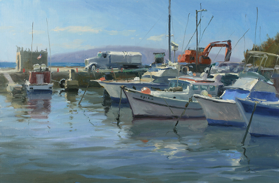 Working Harbor by John Cosby Oil ~ 16 x 24