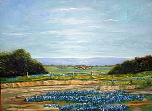 Blue Bonnet Heaven by Max Hulse  ~ 30 x 40