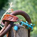 54612 Rendezvous West Wild Rose Turquosie Bracelet by Deborah & Russell Shamah  ~  x