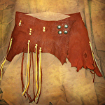 100114 Mountain Wildflowers Elk Leather Wrap Belt by Deborah & Russell Shamah  ~  x