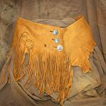 100315 Buckskin Elk Wrap Belt by Deborah & Russell Shamah  ~  x