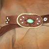 100513 Cinnamon & Sugar Elk Leather Belt