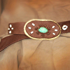 100513 Cinnamon & Sugar Elk Leather Belt