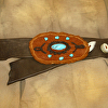 101213 Rocky Mountain Rendezvous Elk Leather Belt