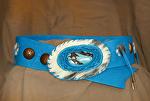 101512 Blue Bird Belt by Deborah & Russell Shamah Deerhide Leather ~  x