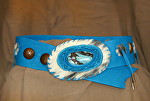 101512 Blue Bird Belt by Deborah & Russell Shamah Deerhide Leather ~  x