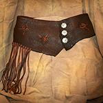 101813 Elk Leather Wrap Belt by Deborah & Russell Shamah Elkhide Leather ~  x