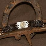50615 Rendezvous West Unfurling Leaf Bracelet by Deborah & Russell Shamah Carved Leather ~  x