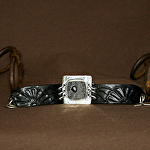 50915 Rendezvous West Primrose Bracelet by Deborah & Russell Shamah Carved Leather ~  x