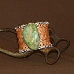 51415 Rendezvous West Blooming Roses Bracelet by Deborah & Russell Shamah Carved Leather ~  x