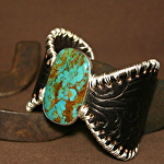 51615 Rendezvous West Mountain Fern Butterfly Bracelet by Deborah & Russell Shamah Carved Leather ~  x