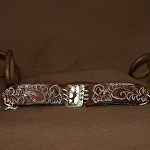 53015 Leafing Fern Rendezvous West Bracelet by Deborah & Russell Shamah Carved Leather ~  x