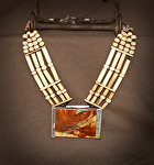 40713 Rendezvous West Breast Collar Necklace by Deborah & Russell Shamah  ~  x
