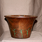 "30415 Rendezvous West ""Branches"" Walnut Hollow Vessel by Deborah & Russell Shamah Wood ~  x 7"""