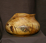 30915 Rendezvous West Box Elder Hollow Vessel by Deborah & Russell Shamah Wood ~  x 6""