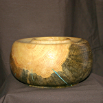 37613 Rendezvous West Blue Stained Hollow Vessel by Deborah & Russell Shamah  ~  x 7 1/4""