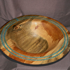 37413 Rendezvous West Blue Stained Pine Bowl