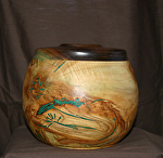 "37113 Rendezvous West ""Road Runner"" Hollow Vessel by Deborah & Russell Shamah Wood ~  x 6 1/2"""