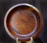 35212 Rendezvous West Large Walnut Bowl by Deborah & Russell Shamah Wood ~  x 15""