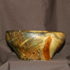 38013 Rendezvous West Blue Stained Pine Bowl
