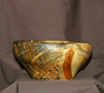 38013 Rendezvous West Blue Stained Pine Bowl by Deborah & Russell Shamah  ~  x 8 1/4""