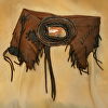100815 Walking at Sunset Elk Leather Wrap Belt