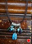 "70609 ~ by Deborah & Russell Shamah Turquoise ~ 7"" x"