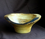 #32511 Aspen Natural Edge with Turquoise by Deborah & Russell Shamah Wood ~ 3.5 x 8.5