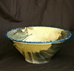 #32711 Beetle Pine withTurquoise Rim by Deborah & Russell Shamah  ~ 4.5 x 10.5